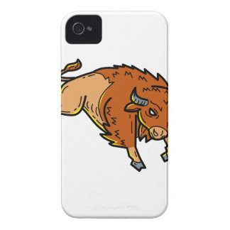 American Buffalo Jumping Mono Line iPhone 4 Case