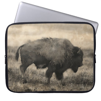 American Buffalo  -  Plains Bison Laptop Sleeve