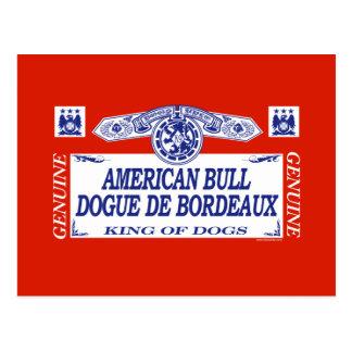 American Bull Dogue De Bordeaux Postcard