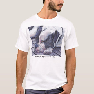 American Bulldog art T-Shirt
