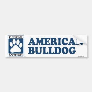 American Bulldog Blue Bumper Stickers