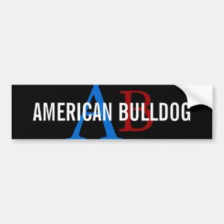 American Bulldog Breed Monogram Bumper Sticker
