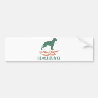 American Bulldog Car Bumper Sticker