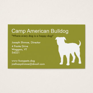 American Bulldog Business Card