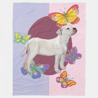 American Bulldog Fleece Blanket