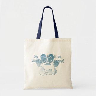 American Bulldog Granddog Canvas Bag