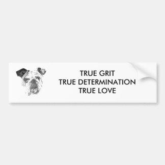 American Bulldog Greyscale Bumper Sticker
