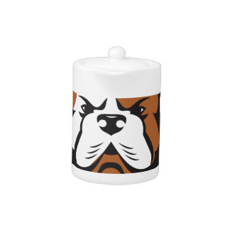 American Bulldog Head Front Retro