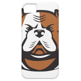 American Bulldog Head Front Retro Barely There iPhone 5 Case