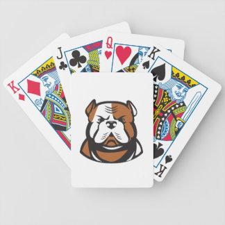 American Bulldog Head Front Retro Bicycle Playing Cards