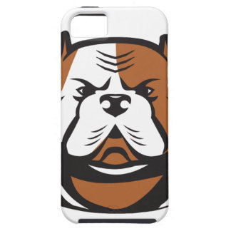 American Bulldog Head Front Retro iPhone 5 Case