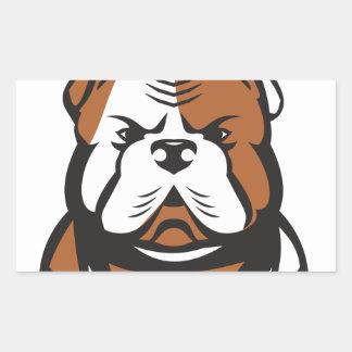 American Bulldog Head Front Retro Rectangular Sticker