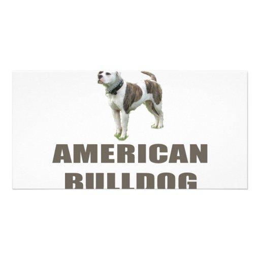 American Bulldog Photo Card Template