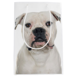 American bulldog portrait medium gift bag