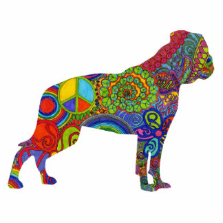 American Bulldog Psychedelic Photo Sculpture
