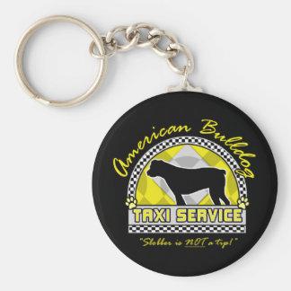 American Bulldog Taxi Service Keychain