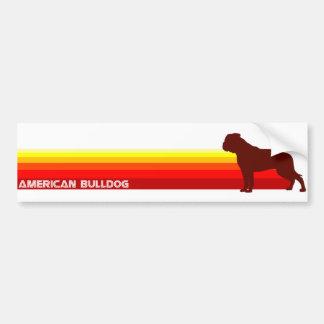 American Bulldog With Stripes Bumper Sticker