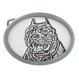 American Bully dog Belt Buckles