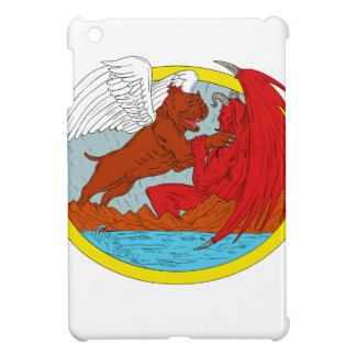 American Bully Dog Fighting Satan Drawing Case For The iPad Mini