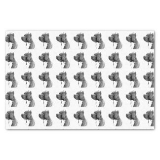 American Bully dog tissue paper