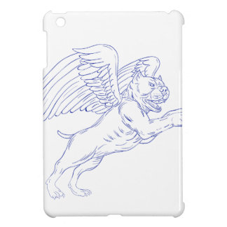 American Bully With Wings Drawing iPad Mini Cover