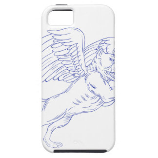 American Bully With Wings Drawing iPhone 5 Case