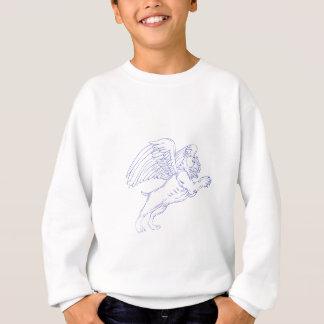 American Bully With Wings Drawing Sweatshirt