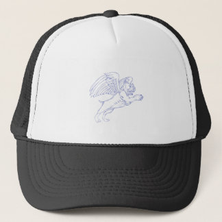 American Bully With Wings Drawing Trucker Hat