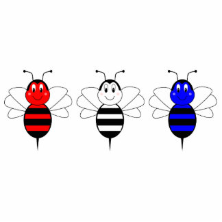 American Bumble Bees Ornament Cut Out