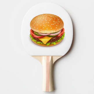 American Burger Ping Pong Paddle