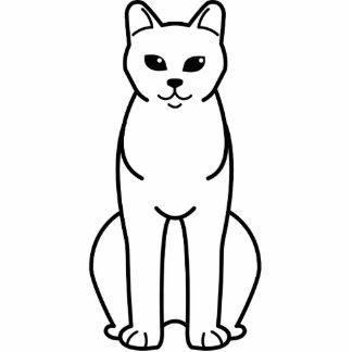 American Burmese Cat Cartoon Standing Photo Sculpture