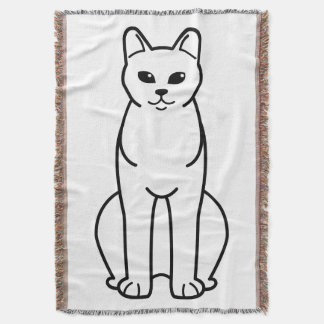 American Burmese Cat Cartoon Throw Blanket