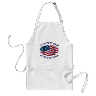 American by birth patriot by choice standard apron