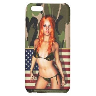 American Camo Bikini Babe Case For iPhone 5C