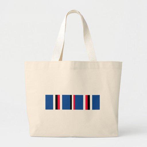 American Campaigne Medal Ribbon Canvas Bag