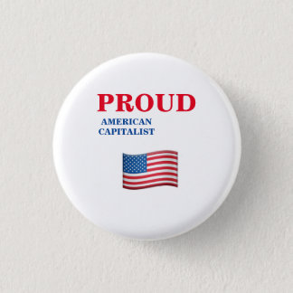 American Capitalist 3 Cm Round Badge