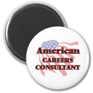 American Careers Consultant 6 Cm Round Magnet