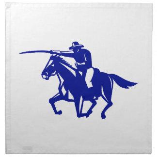 American Cavalry Charging Retro Napkin