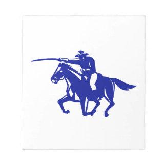 American Cavalry Charging Retro Notepad