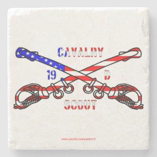 American Cavalry Marble Stone Coaster