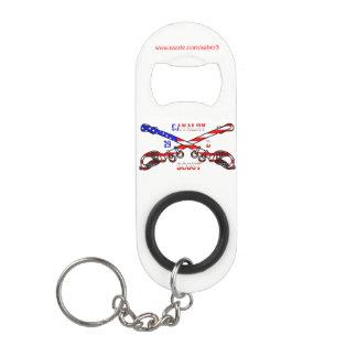 American Cavalry Mini Bottle Opener w/ Keychain