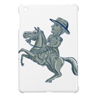 American Cavalry Officer Riding Horse Prancing Car iPad Mini Covers