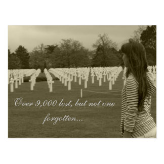 American Cemetery in Normany Postcard