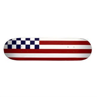 American Checkered Flag 1 Skate Board