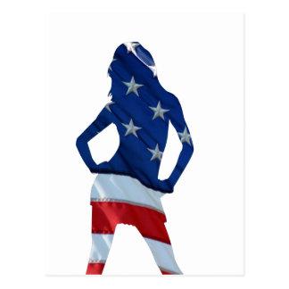 american cheerleader postcard