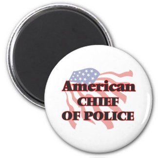 American Chief Of Police 6 Cm Round Magnet