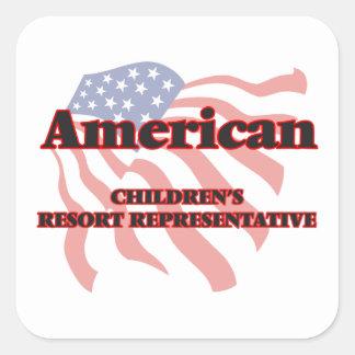 American Children's Resort Representative Square Sticker