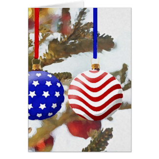 American Christmas Greeting Card