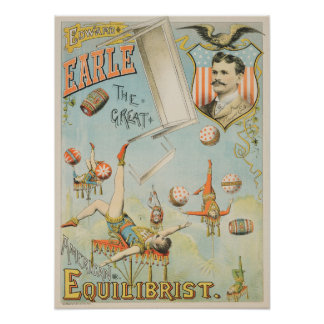 American Circus Performer Edward Earle Poster
