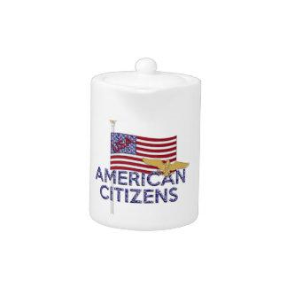 American Citizen Glittered TEAPOT